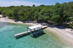 Blue Moon Beach House - private dock aerial