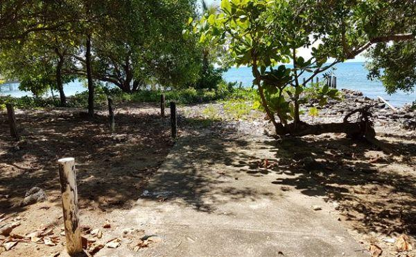 0.144 acres in Utila Town - view inland