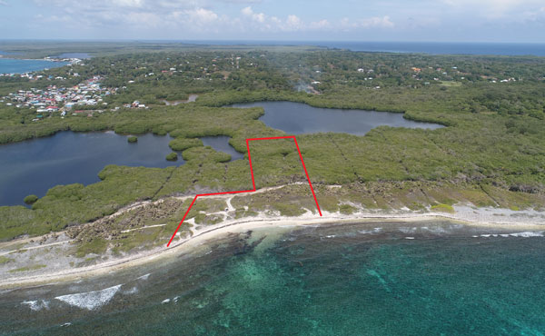 Lot #4 at Big Bight - Aerial #2 annotated