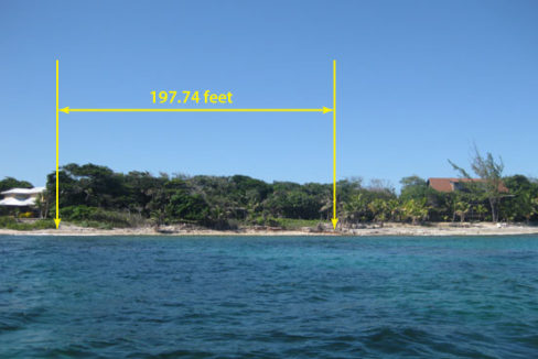 197.74 feet of Beachfront